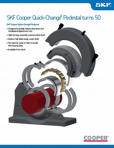 The SKF Cooper Quick-Change Angled Pedestal Turns 50 | Cooper Bearings